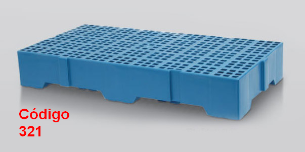 estrado plastico 40 x 80 x 13 cm