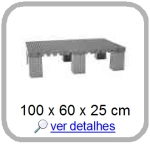 estrado plastico 100 x 60 x 15 cm