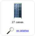 Estante metálica completa com 27 Caixas Plásticas Mistas
