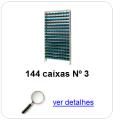 estante metalica porta componentes para 144 caixas plasticas bin numero 3