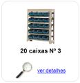 estante metalica porta componentes para 20 caixas plasticas bin numero 3