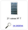 estante metalica porta componentes para 21 caixas plasticas bin numero 7