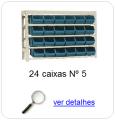 estante metalica porta componentes para 24 caixas plasticas bin numero 5