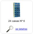 estante metalica porta componentes para 24 caixas plasticas bin numero 6