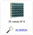 estante metalica porta componentes para 30 caixas plasticas bin numero 6
