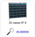 estante metalica porta componentes para 30 caixas plasticas bin numero 8