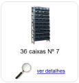 estante metalica porta componentes para 36 caixas plasticas bin numero 7