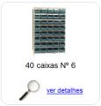 estante metalica porta componentes para 40 caixas plasticas bin numero 6