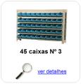 estante metalica porta componentes para 45 caixas plasticas bin numero 3