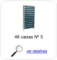 estante metalica porta componentes para 36 caixas plasticas bin numero 5