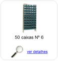 estante metalica porta componentes para 50 caixas plasticas bin numero 6