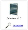 estante metalica porta componentes para 48 caixas plasticas bin numero 5