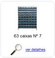 estante metalica porta componentes para 63 caixas plasticas bin numero 7