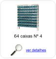 estante metalica porta componentes para 64 caixas plasticas bin numero 4