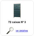 estante metalica porta componentes para 72 caixas plasticas bin numero 3