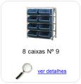 estante metalica porta componentes para 8 caixas plasticas bin numero 9