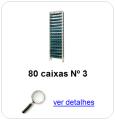 estante metalica porta componentes para 80 caixas plasticas bin numero 3