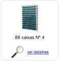 estante metalica porta componentes para 88 caixas plasticas bin numero 4