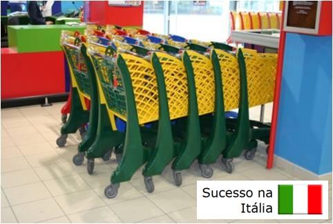 Carrinho de Supermercado, Carrinho de Supermercado Plástico