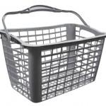 cesta plastica cinza