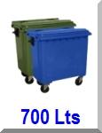 contentor lixo 700 litros