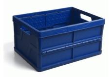 caixa dobravel fechada azul