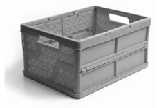 caixa dobravel fechada cinza
