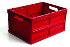 caixa dobravel fechada vermelha