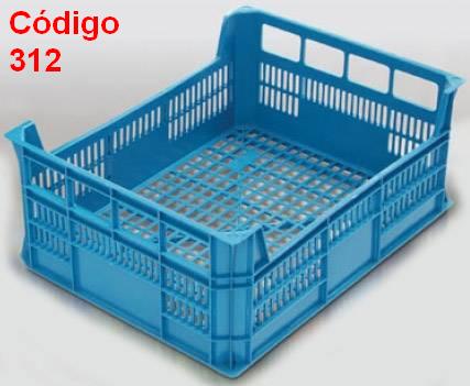 Caixas Plásticas Vazadas 40 x 30 x 16 cm