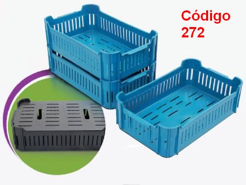 Caixas Plásticas Vazadas 47,5 x 28,5 x 14 cm