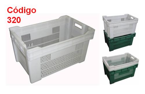Caixas Plásticas Vazadas 56 x 36,5 x 30,5 cm