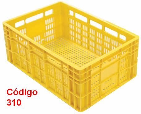 Caixas Plásticas Vazadas 60 x 40 x 24 cm