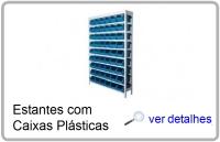 estantes aco caixa plasticas gaveteiros