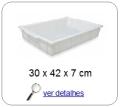 bandeja plastica 36,5 x 26 x 7 cm 229