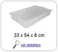 bandeja plastica 8,0 x 31,0 x 50,0 cm 061