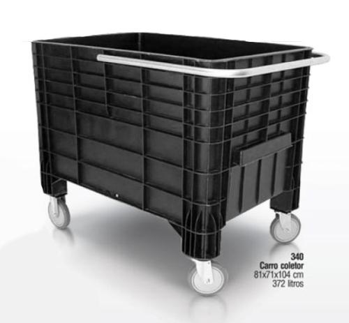 Carro Coletor de Lixo 372 litros