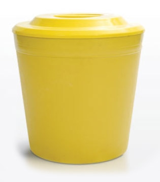 lixeira 45 litros plastica com tampa