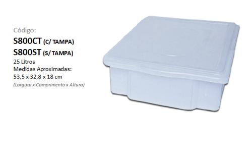 Caixa Plástica Organizadora 25 litros