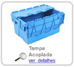caixa de plastico com tampa articulada