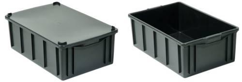 caixas plasticas 39,5 litros tampa opcional