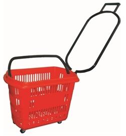 cesta plastica supermercado com rodas