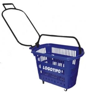 Cesto de compras com rodas