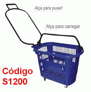 cesto supermercado com rodas