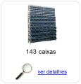 Estante metálica completa com 143 Caixas Plásticas Mistas