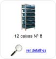 estante metalica porta componentes para 12 caixas plasticas bin numero 8