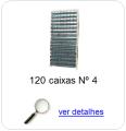 estante metalica porta componentes para 120 caixas plasticas bin numero 4