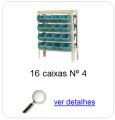 estante metalica porta componentes para 16 caixas plasticas bin numero 4