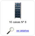 estante metalica porta componentes para 16 caixas plasticas bin numero 8