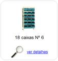 estante metalica porta componentes para 18 caixas plasticas bin numero 6
