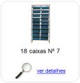 estante metalica porta componentes para 18 caixas plasticas bin numero 7